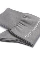 Carlo Lanza Just Married korte sokken katoen grijs
