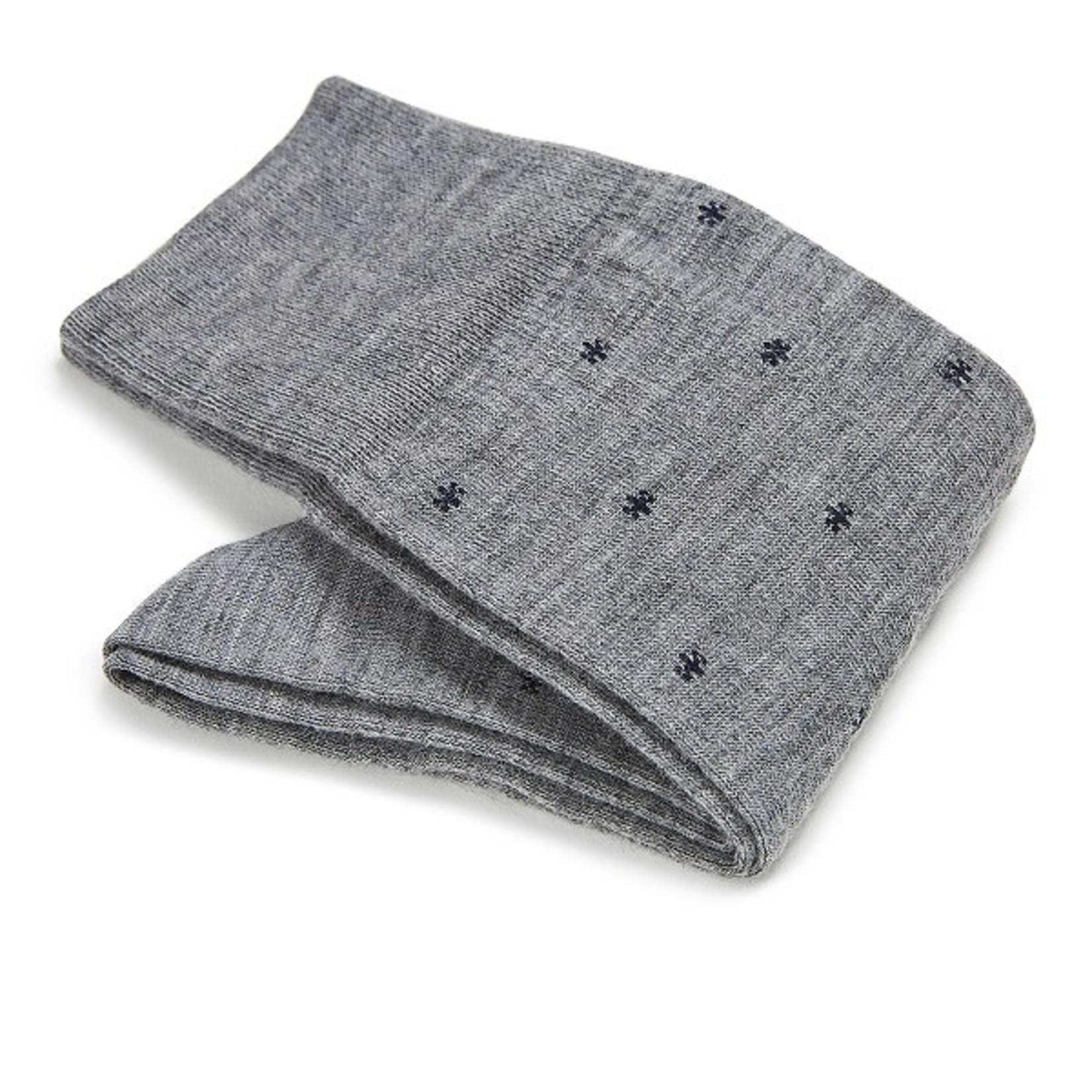 Carlo Lanza korte sokken wol grijs vlok