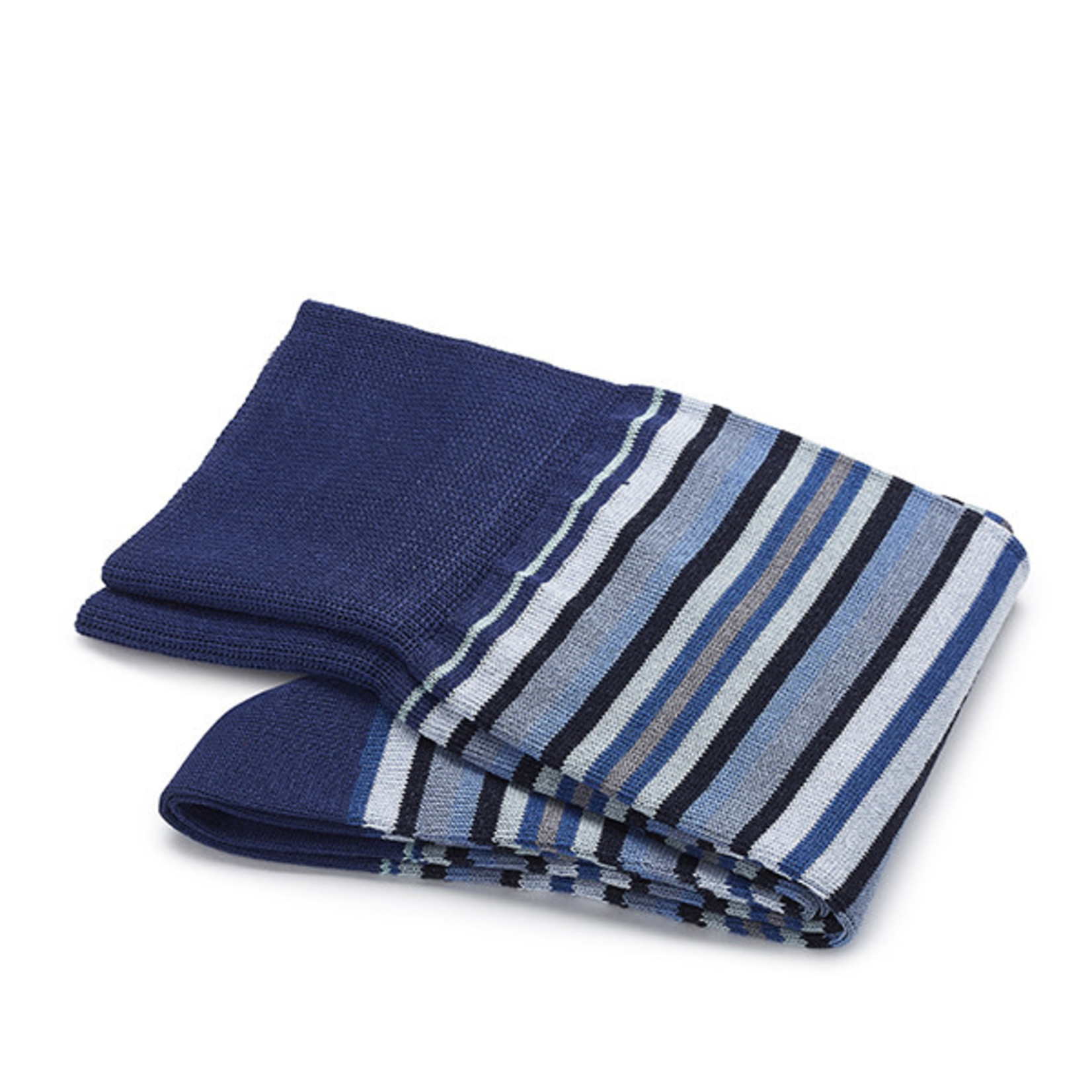 Carlo Lanza korte sokken katoen blauwe streep