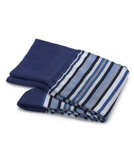 Carlo Lanza sokken blauwe streep