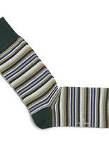 Carlo Lanza korte sokken katoen groene streep