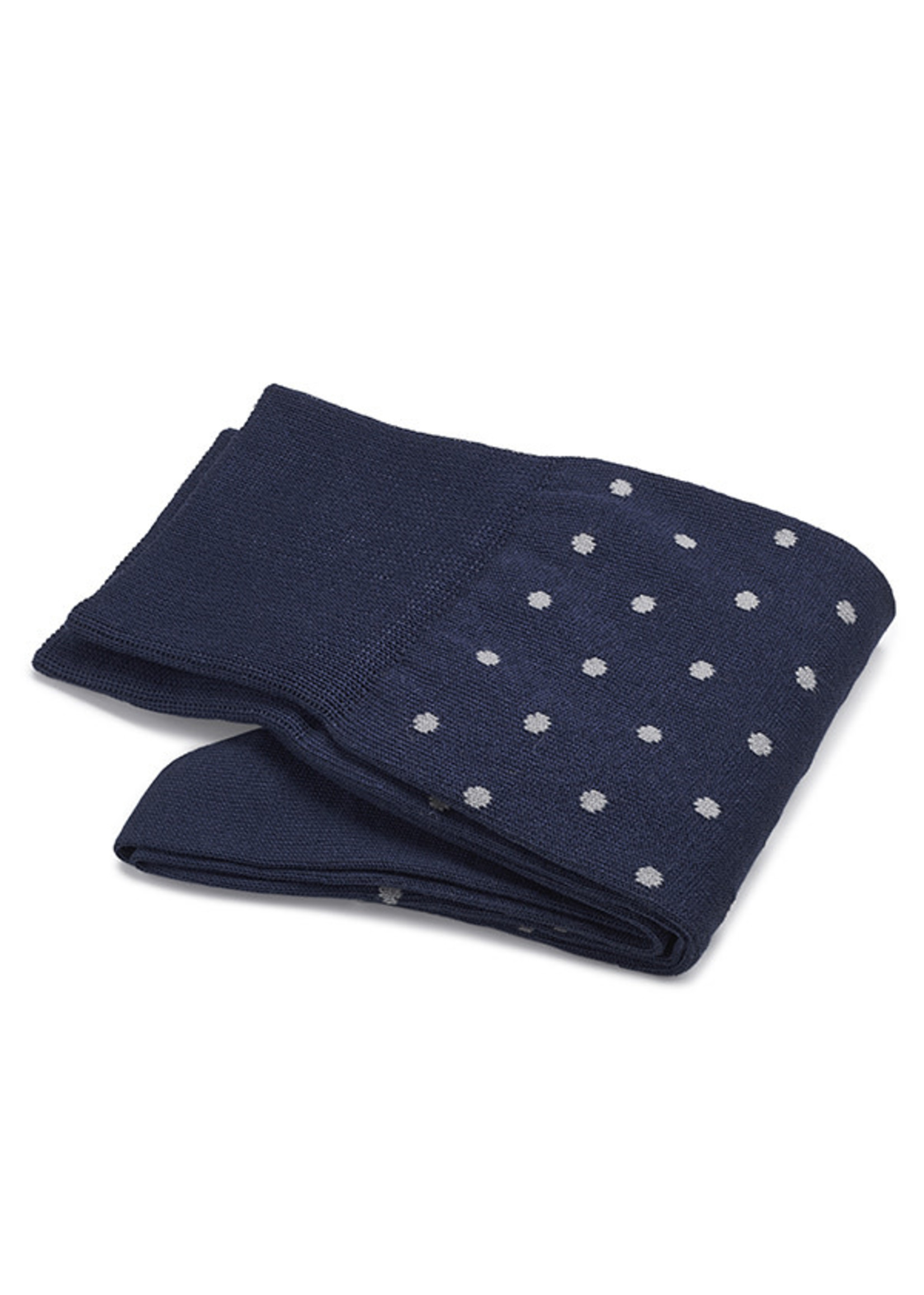 Carlo Lanza korte sokken katoen royalblauwe stip