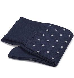 Carlo Lanza sokken royalblauwe stip
