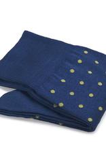 Carlo Lanza korte sokken katoen kobaltblauwe stip