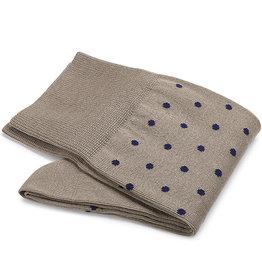 Carlo Lanza sokken taupe stip