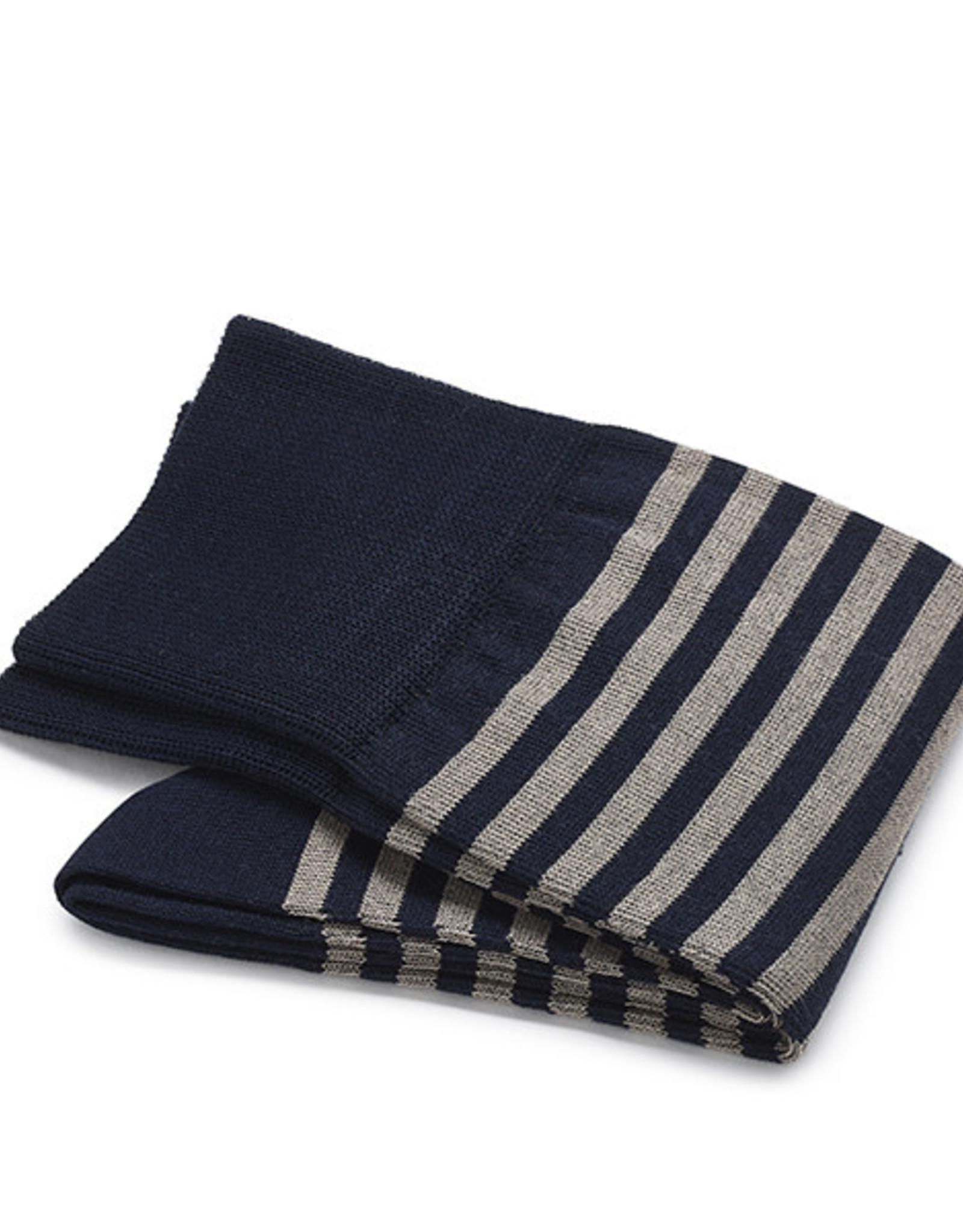 Carlo Lanza korte sokken katoen donkerblauwe streep