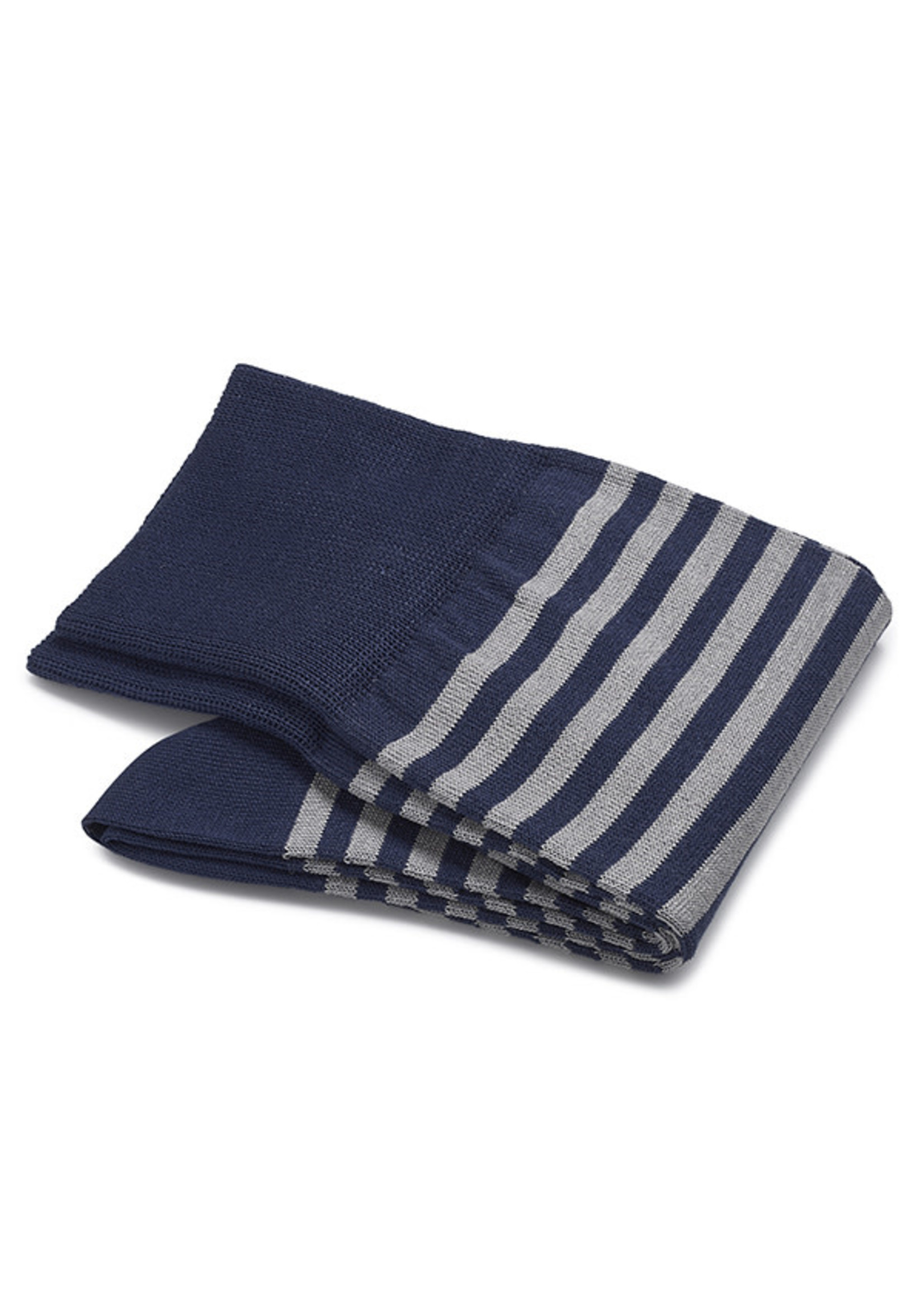 Carlo Lanza korte sokken katoen royalblauwe streep