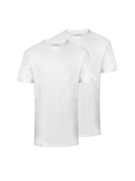 Slater Basic 2-pack ronde hals t-shirt wit