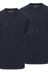 Slater Basic 2-pack ronde hals t-shirt marine