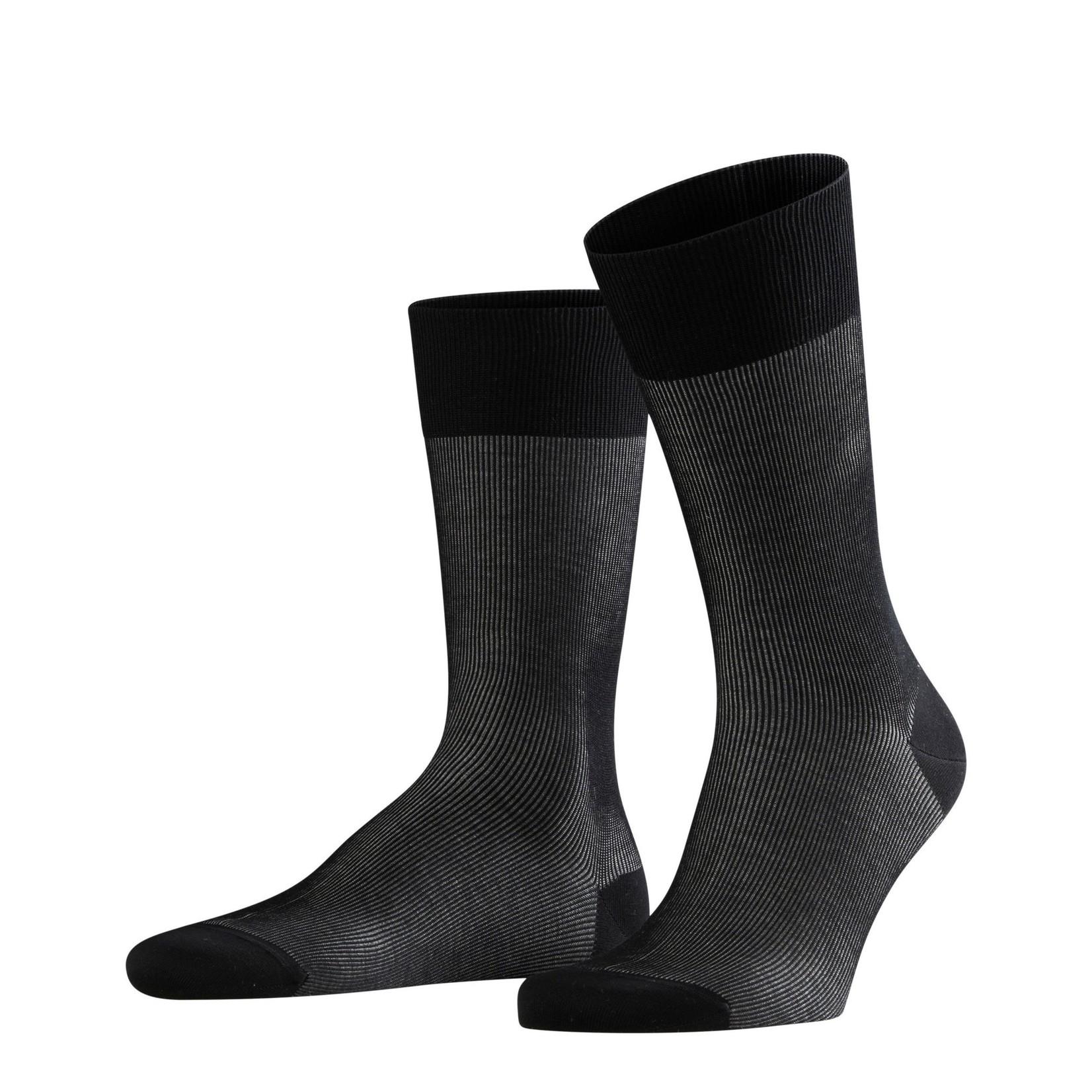 Falke Fine Shadow korte sokken zwart
