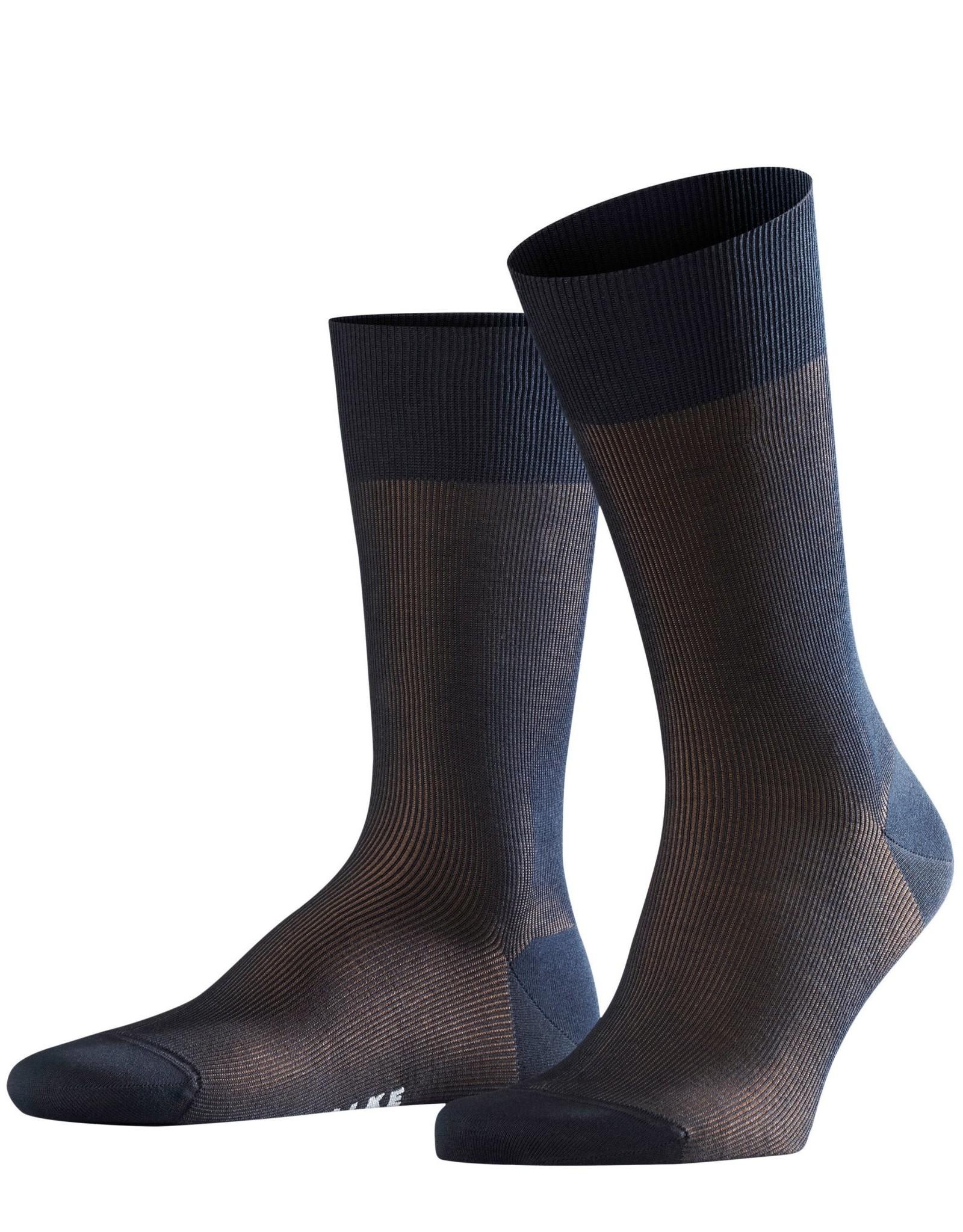 Falke Fine Shadow korte sokken marine combi