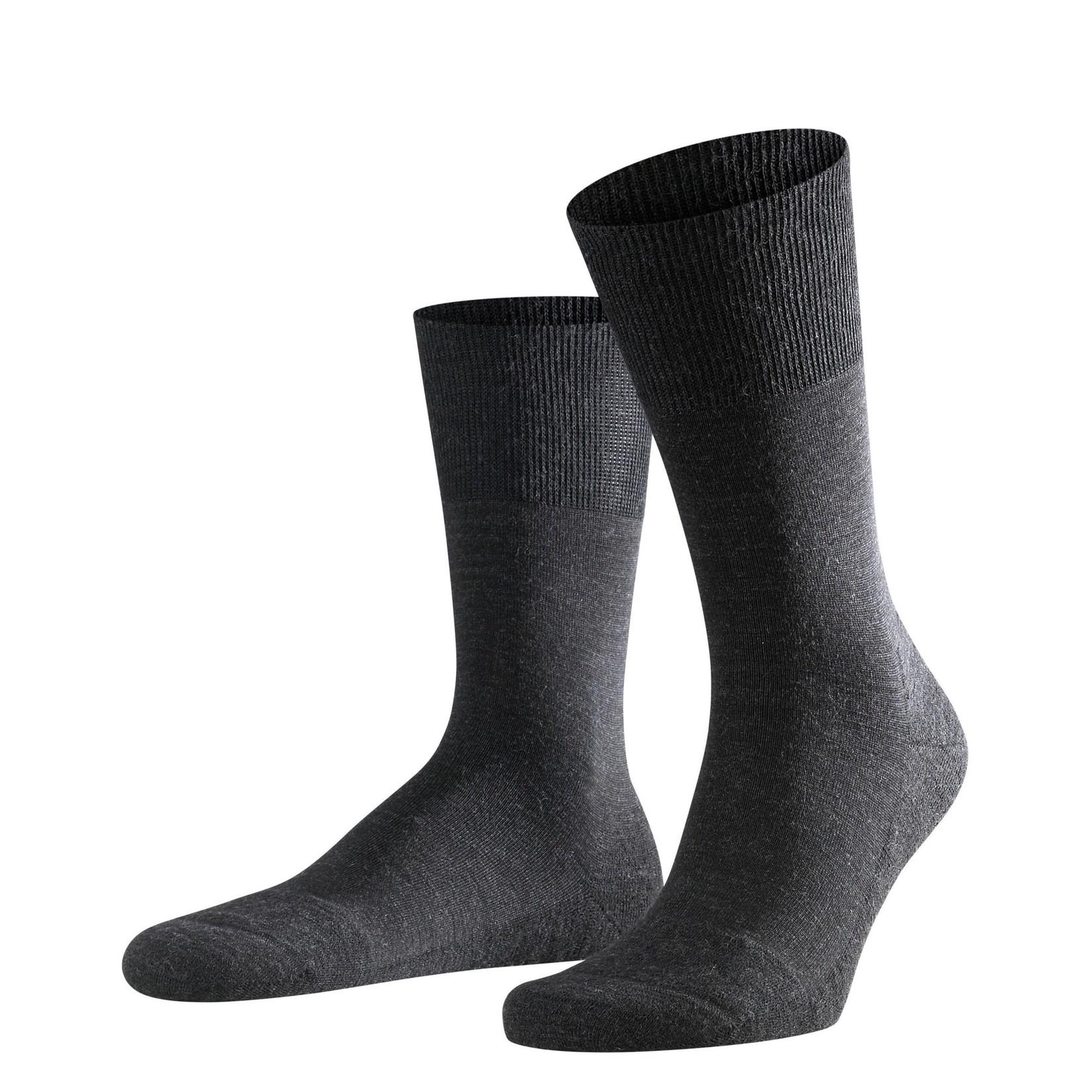Falke Airport Plus sokken antraciet melange