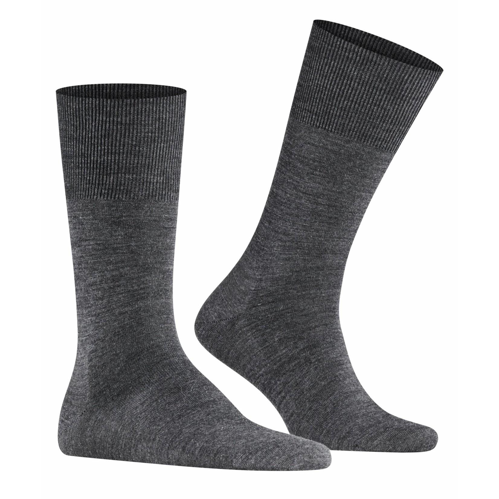 Falke Airport sokken asphalt melange