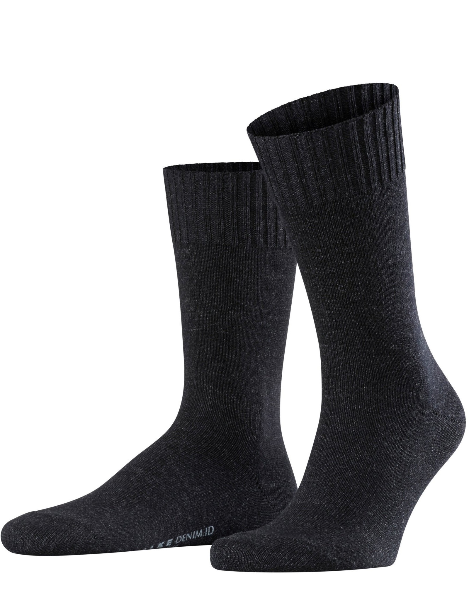 Falke Denim.ID korte sokken antraciet melange