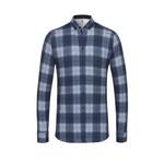 Desoto jersey overhemd blauwe ruit
