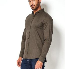 Desoto jersey overhemd Italiaans bruin
