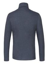 Desoto jersey kol pullover blauw