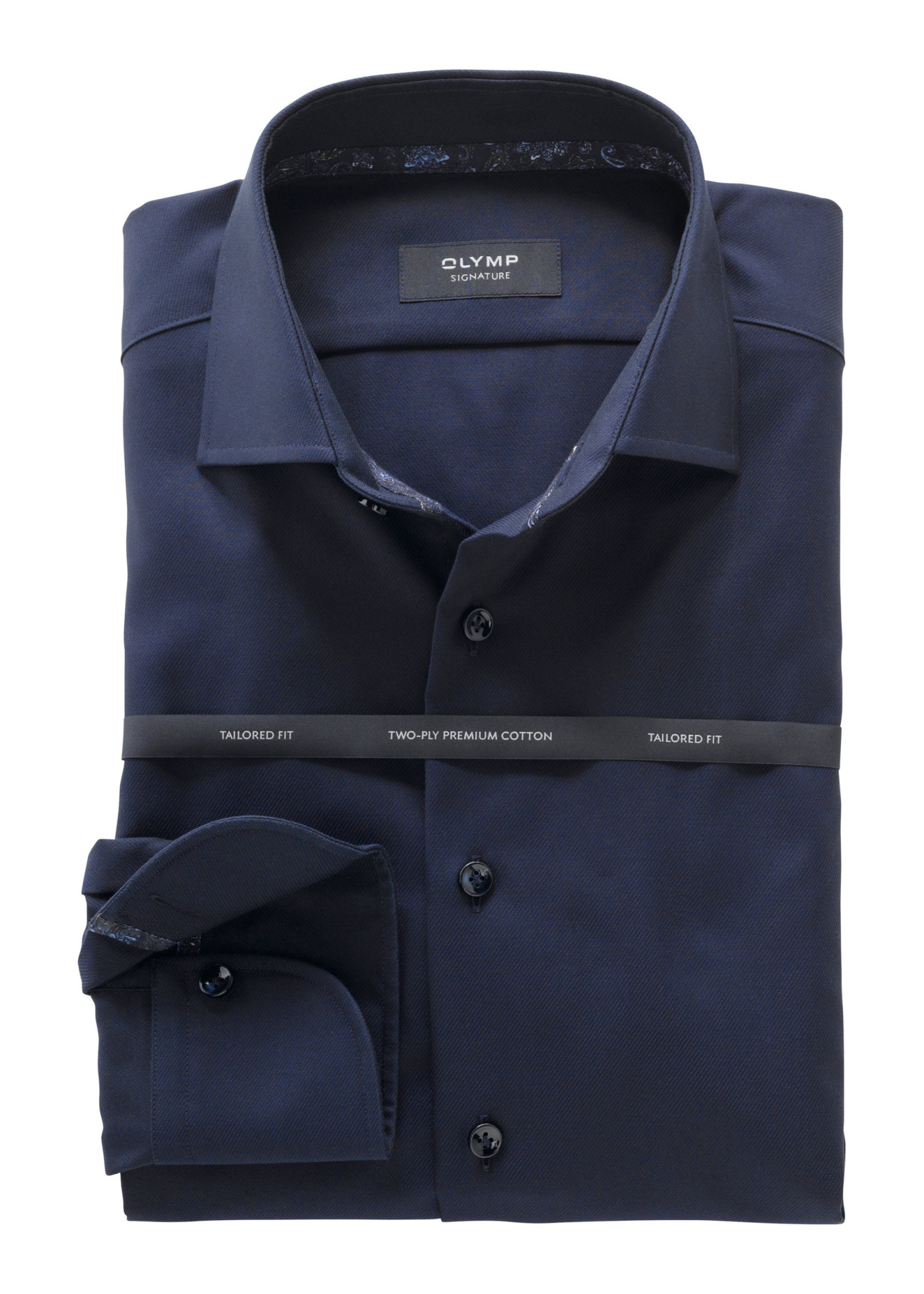 Olymp Signature tailored fit overhemd marine