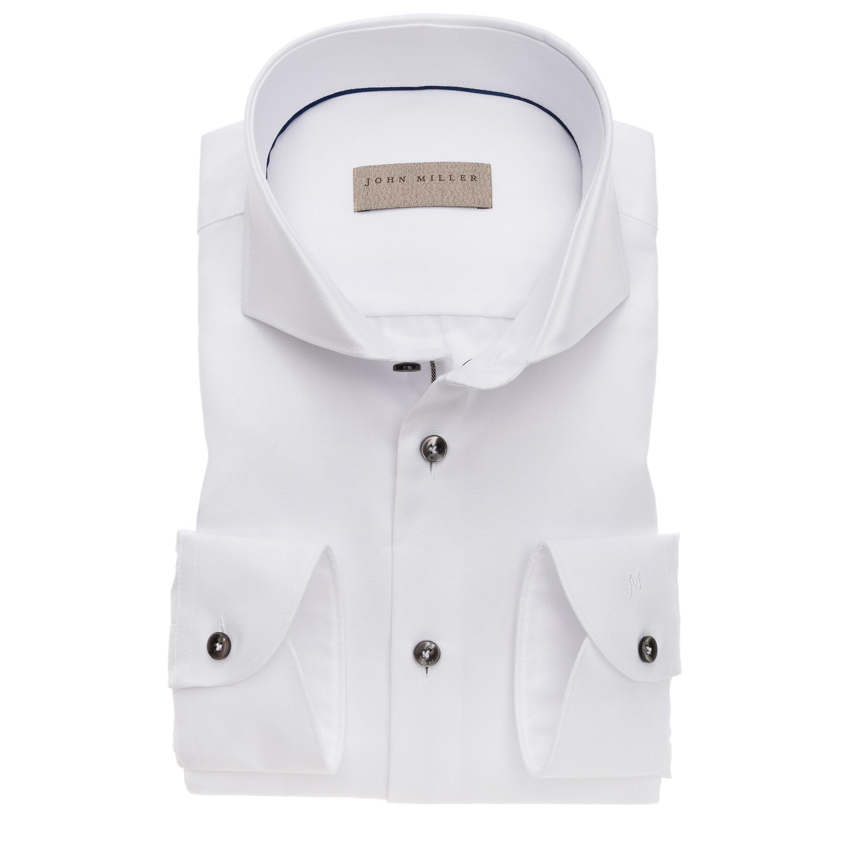 John Miller tailored fit overhemd wit met cut away boord