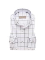 John Miller tailored fit shirt wit combi