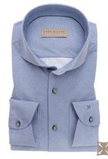 John Miller slim fit stretch overhemd blauw met cut away boord