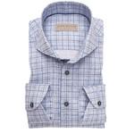 John Miller tailored fit overhemd blauwe ruit