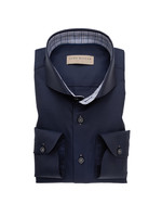 John Miller tailored fit overhemd donkerblauw
