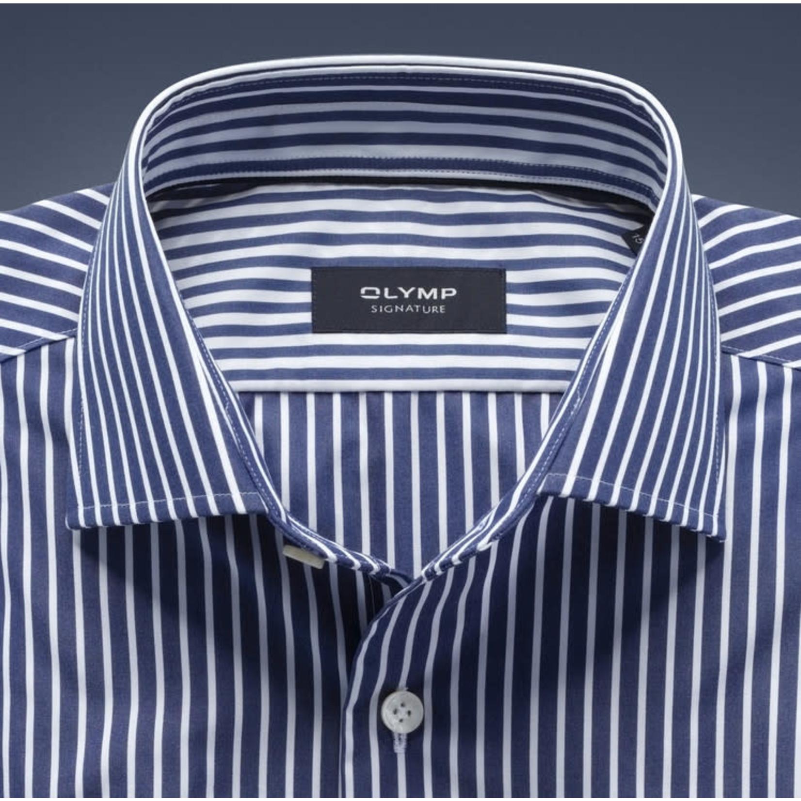 Olymp Signature overhemd marine streep