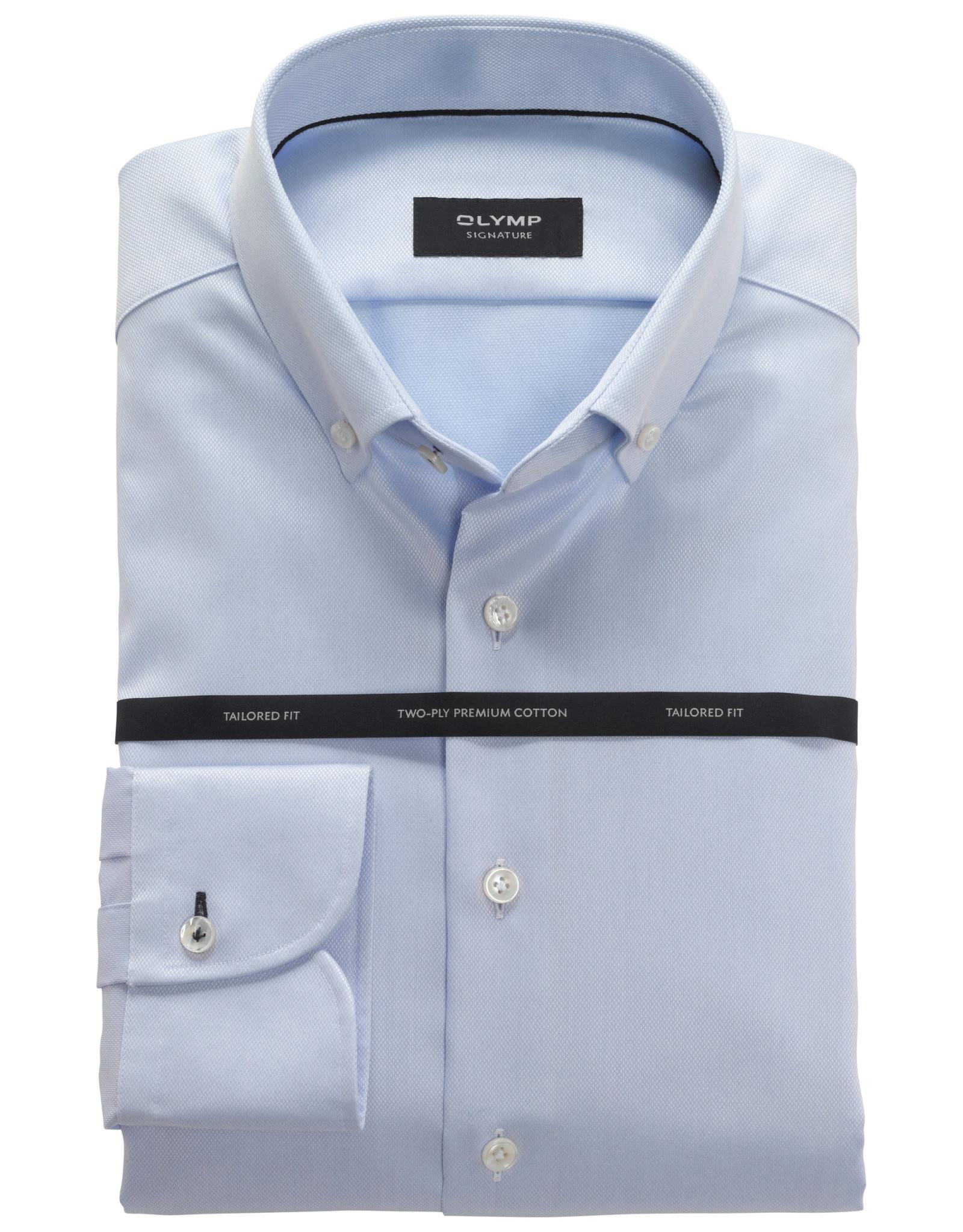 Olymp Signature overhemd lichtblauw met button down boord
