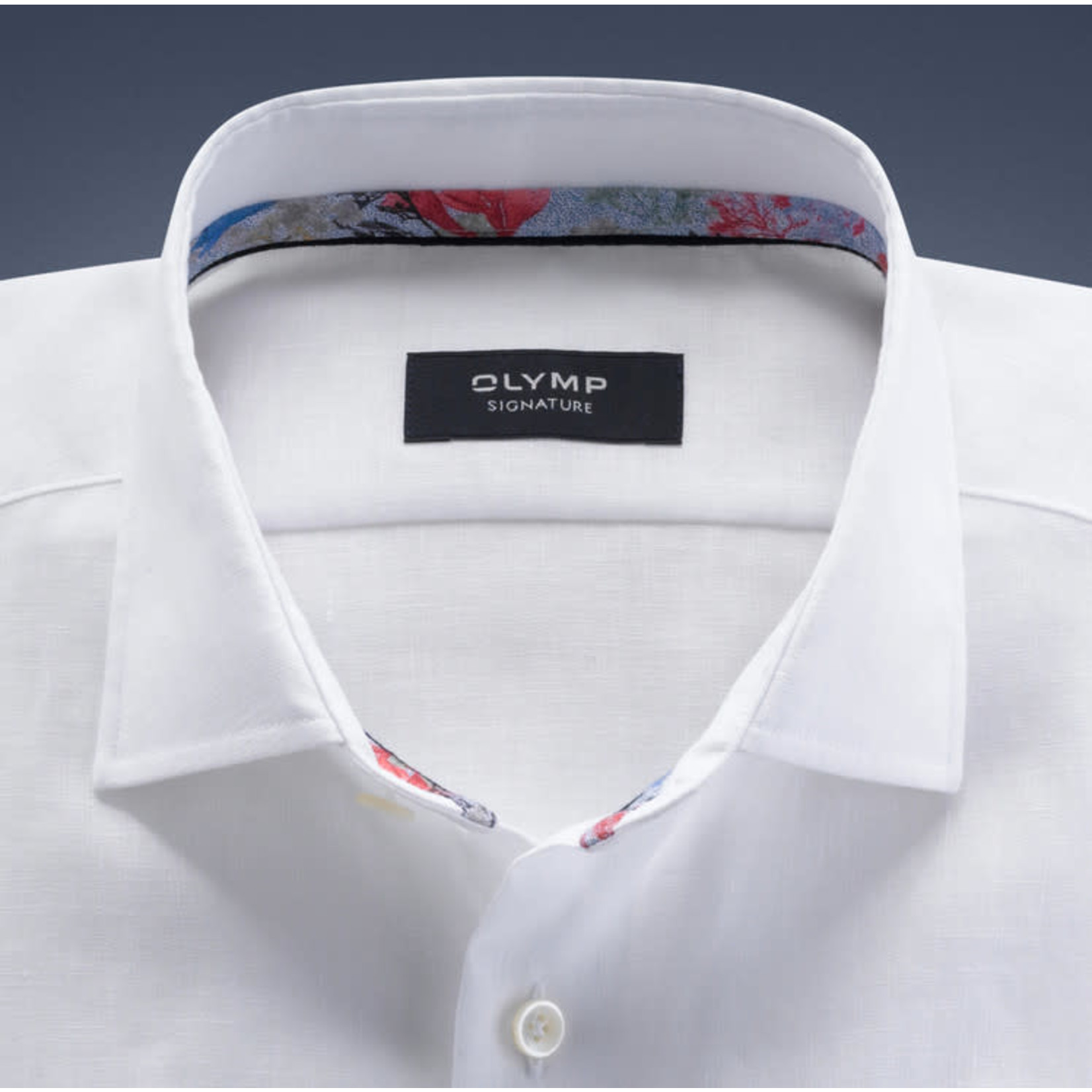 Olymp Signature linnen overhemd wit