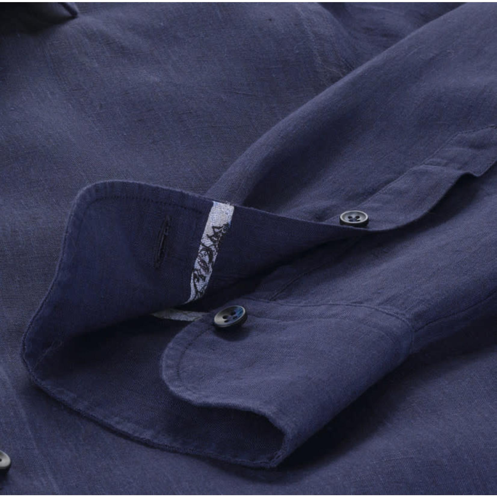 Olymp Signature linnen overhemd marine
