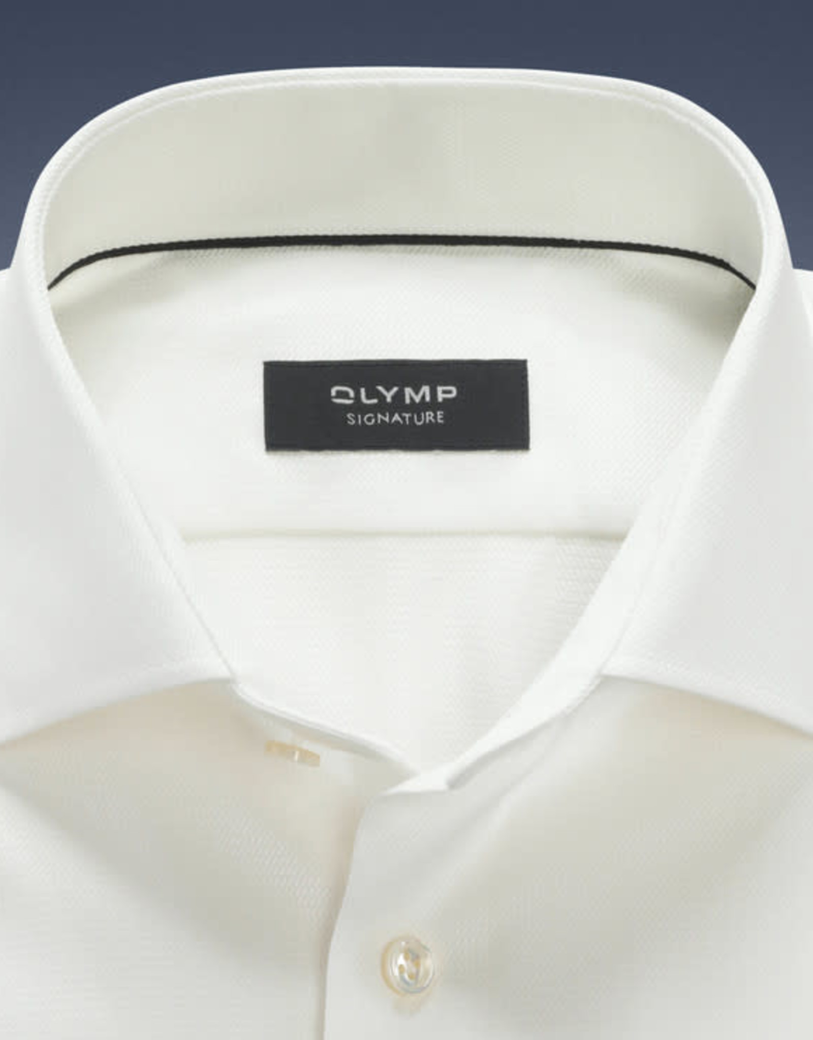 Olymp Signature tailored fit overhemd ecru