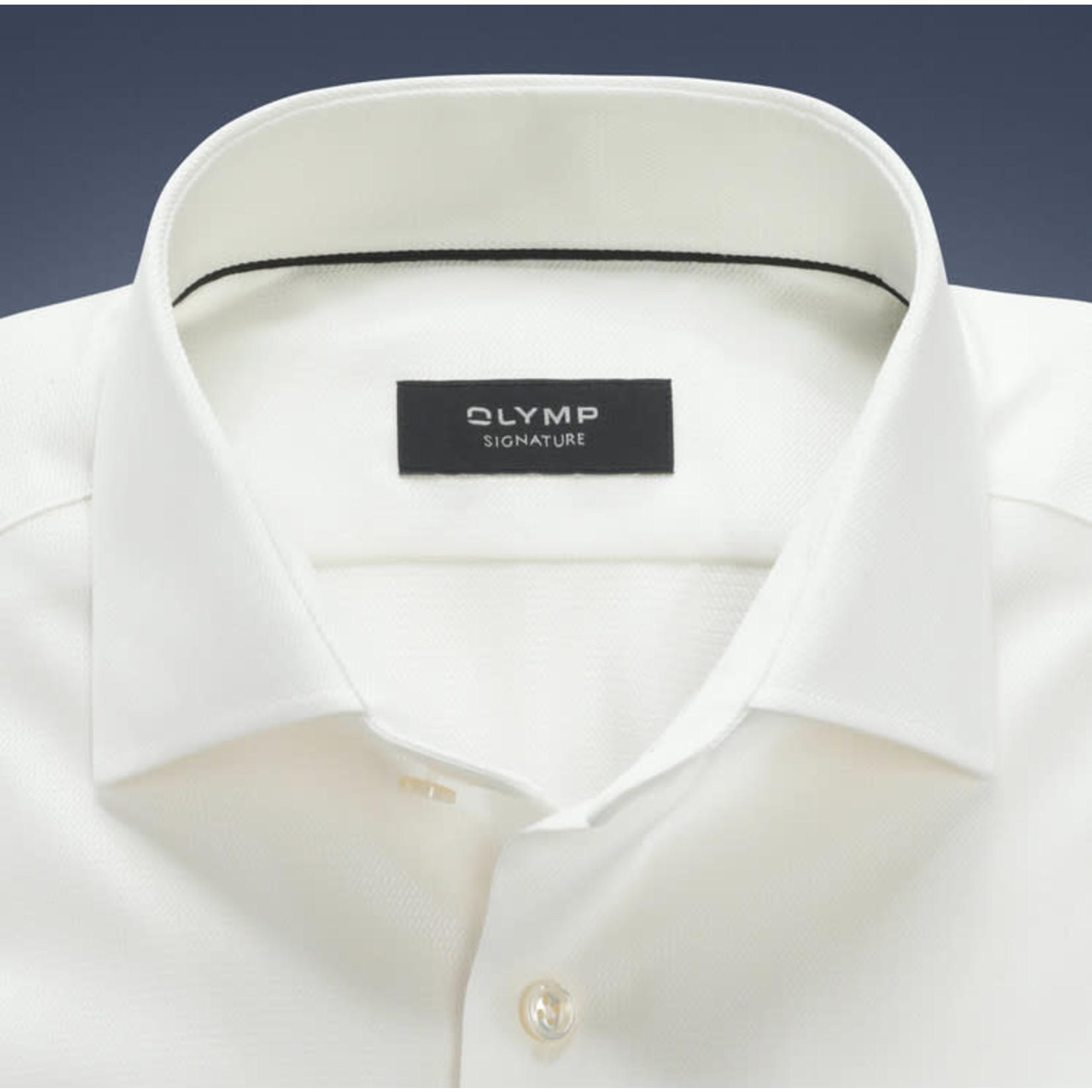 Olymp Signature tailored fit overhemd ecru