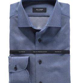 Olymp Signature overhemd rookblauw