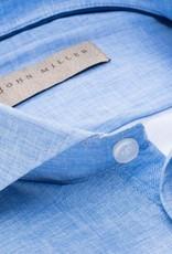John Miller slim fit overhemd lichtblauw met cut away boord