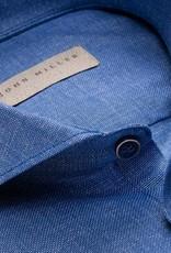 John Miller tailored fit overhemd jeansblauw