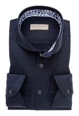 John Miller tailored fit overhemd marine met wide spread boord