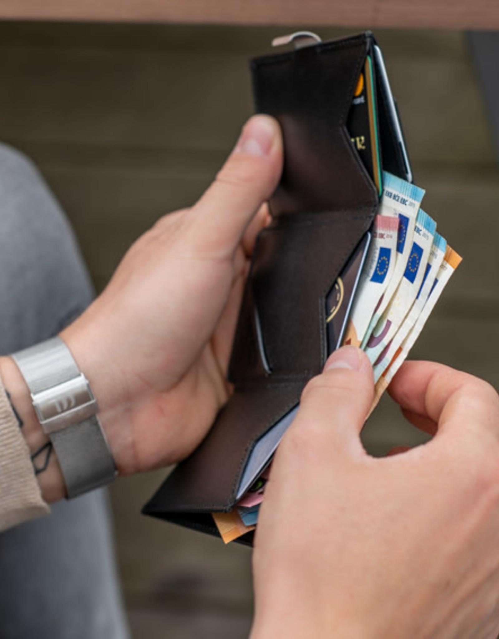 Exentri Wallet met RFID-bescherming zwart