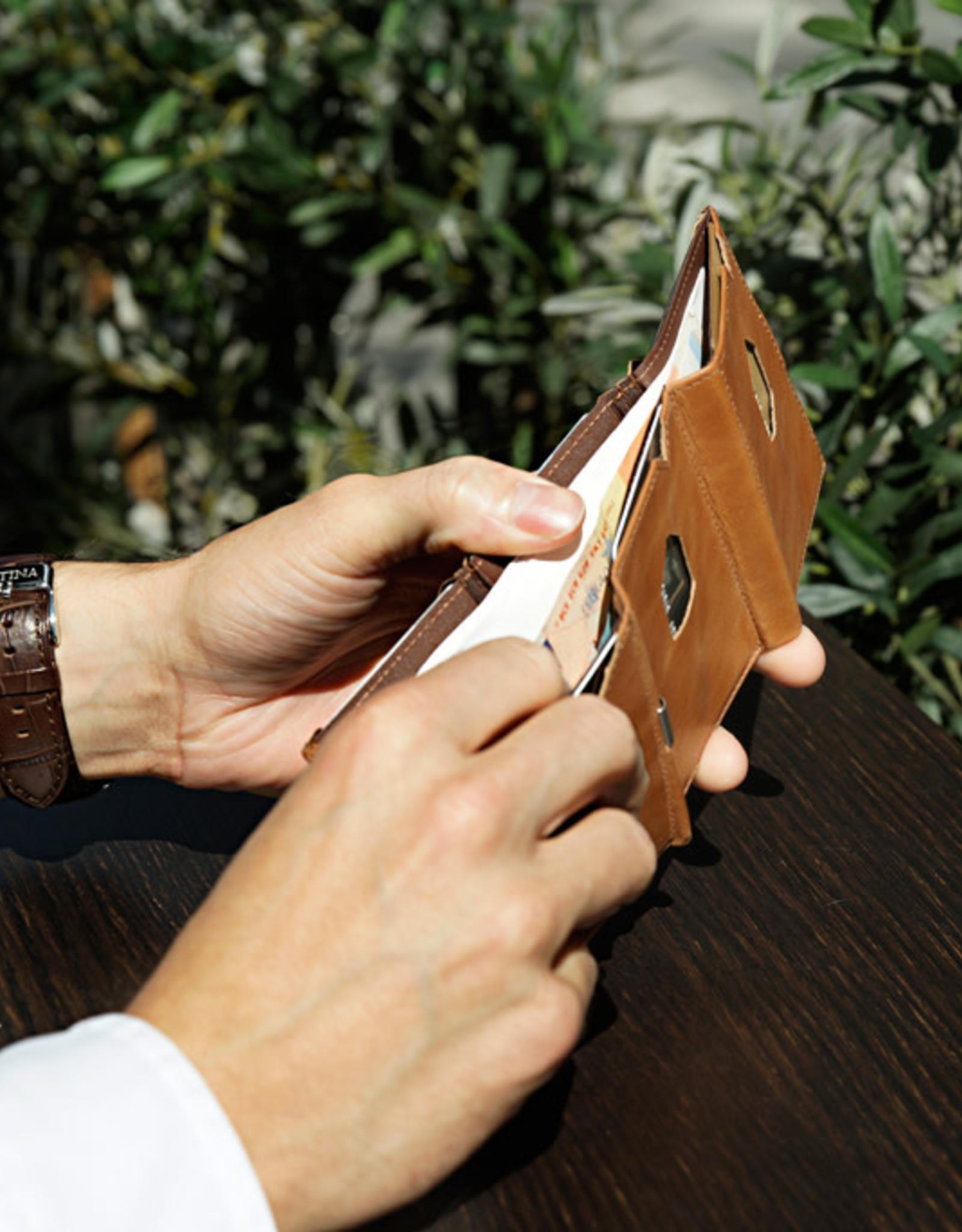 Exentri Wallet met RFID-bescherming zand