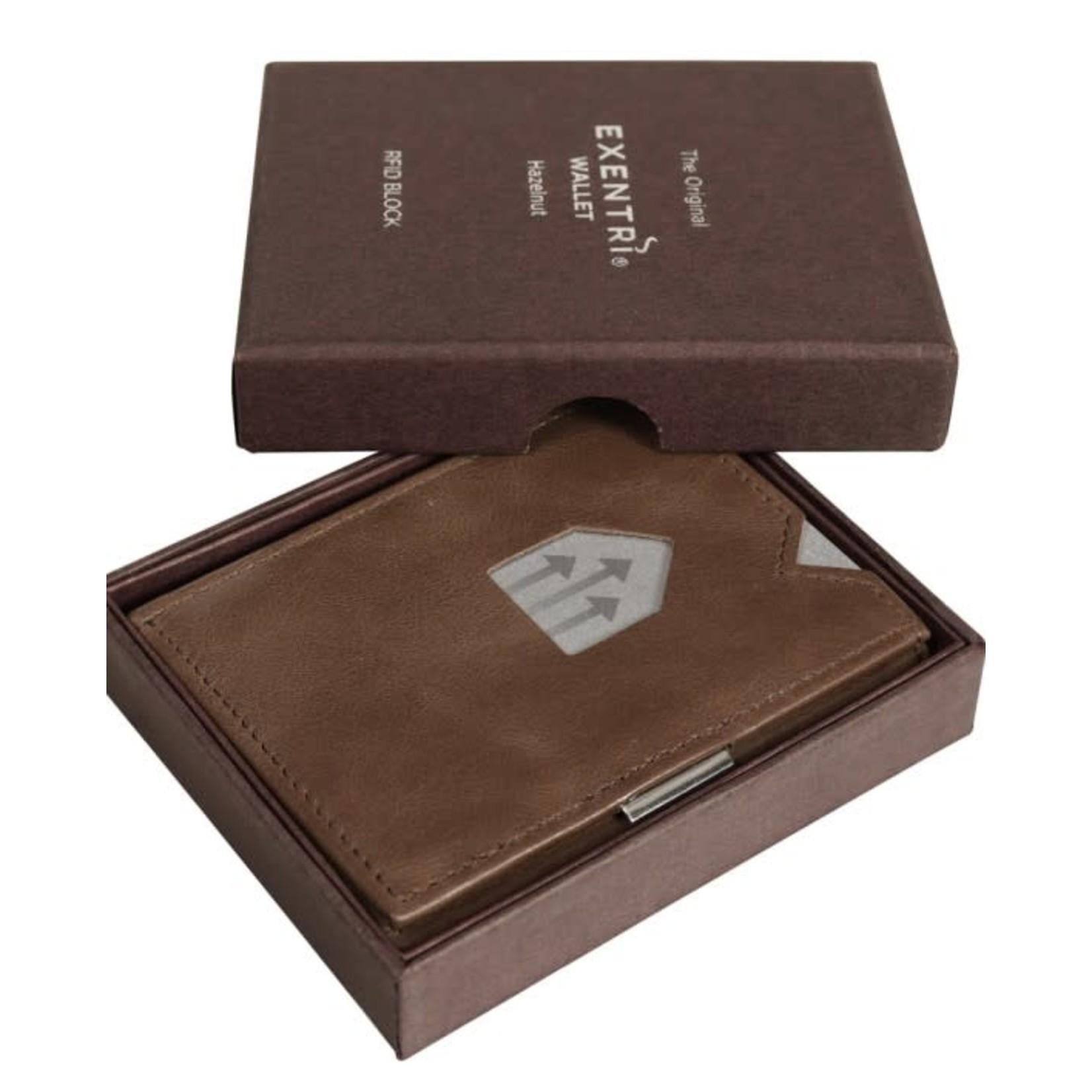 Exentri Wallet met RFID-bescherming hazelnoot