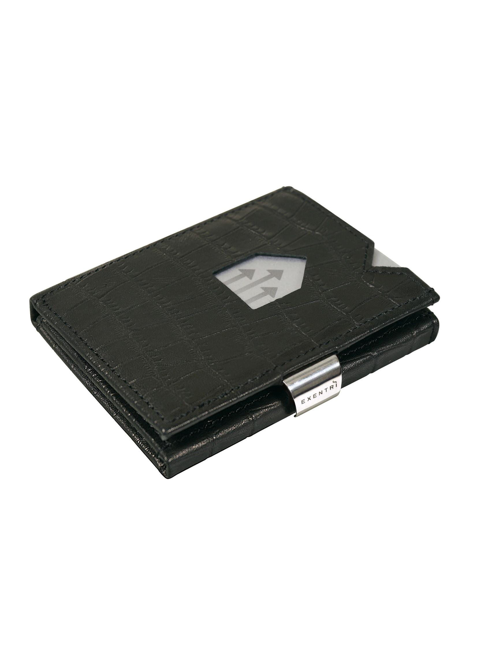 Exentri Wallet met RFID-bescherming caiman zwart