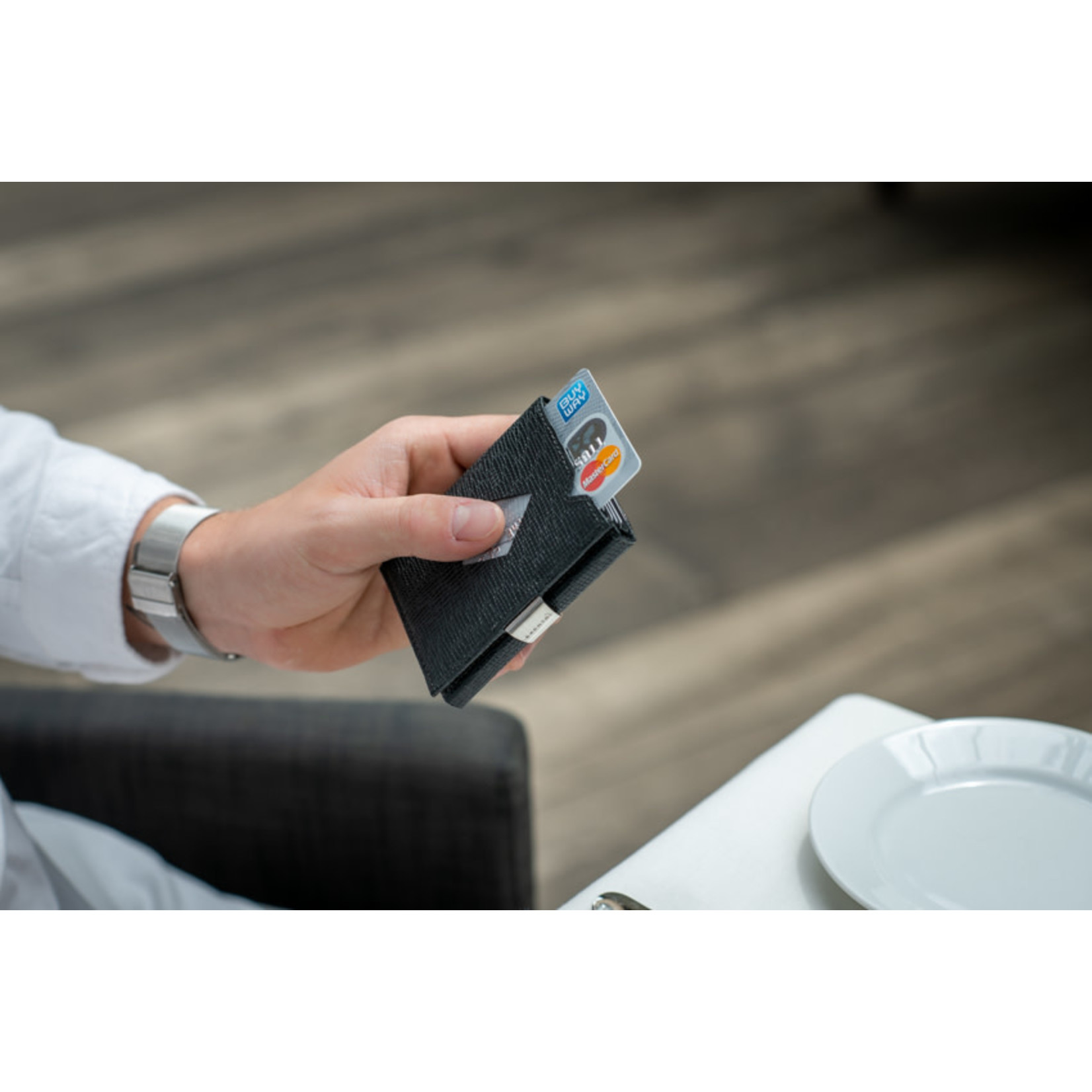 Exentri Wallet met RFID-bescherming mozaiek zwart