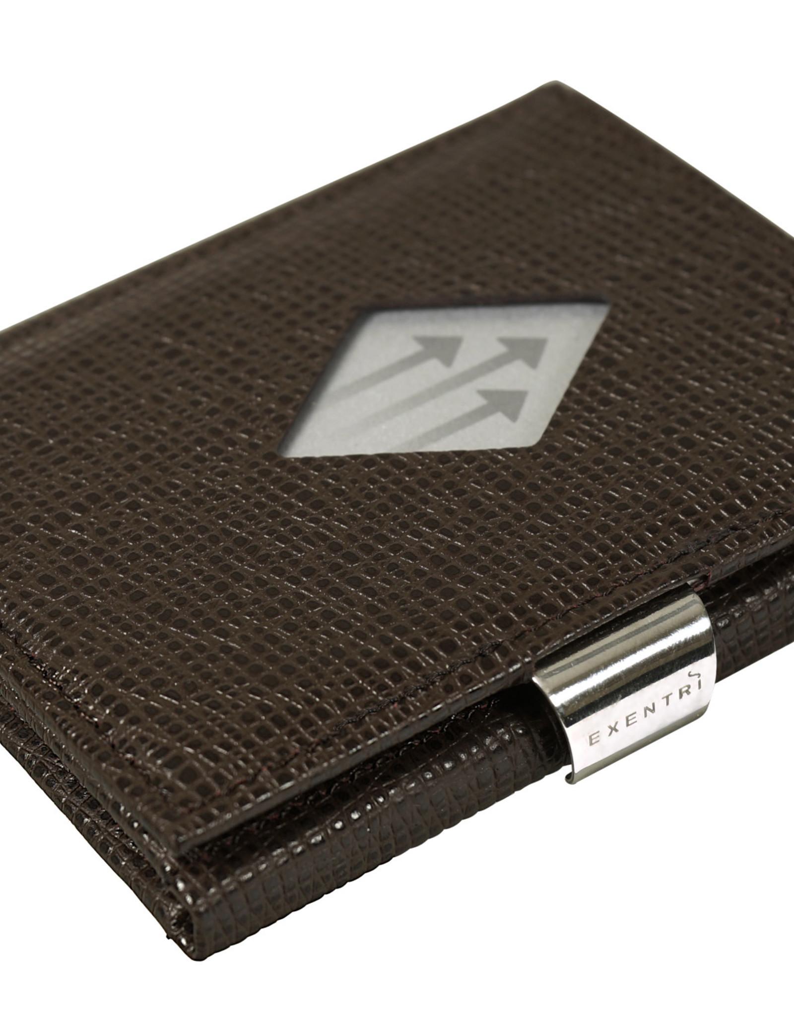 Exentri Wallet met RFID-bescherming mozaiek bruin
