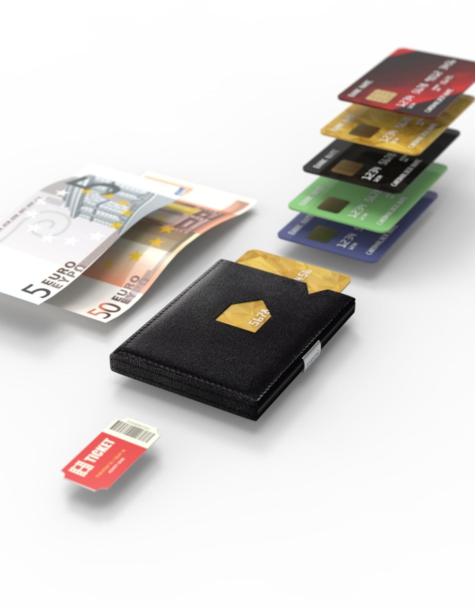 Exentri Wallet met RFID-bescherming kubus zwart