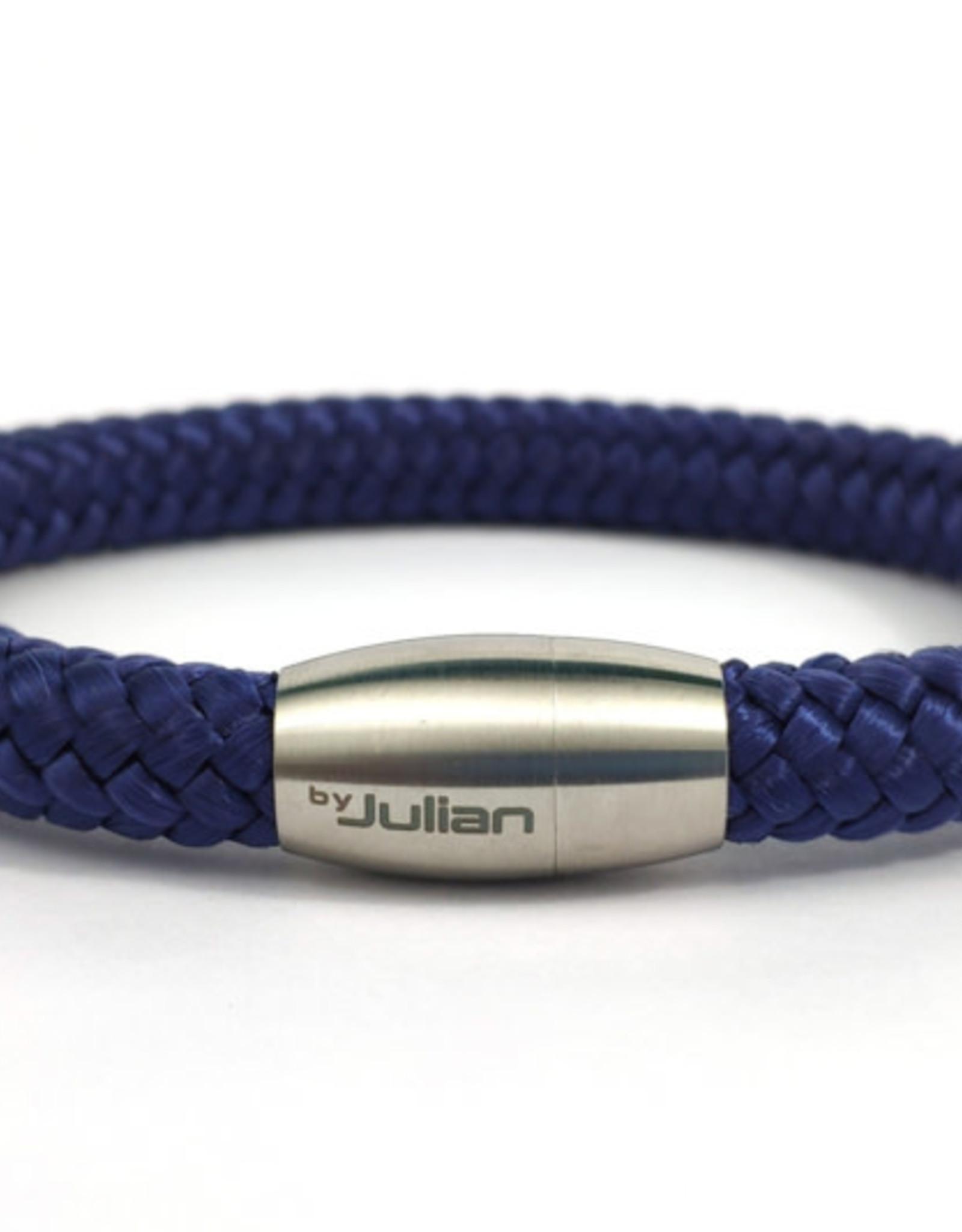 By Julian Lautan koord armband blauw