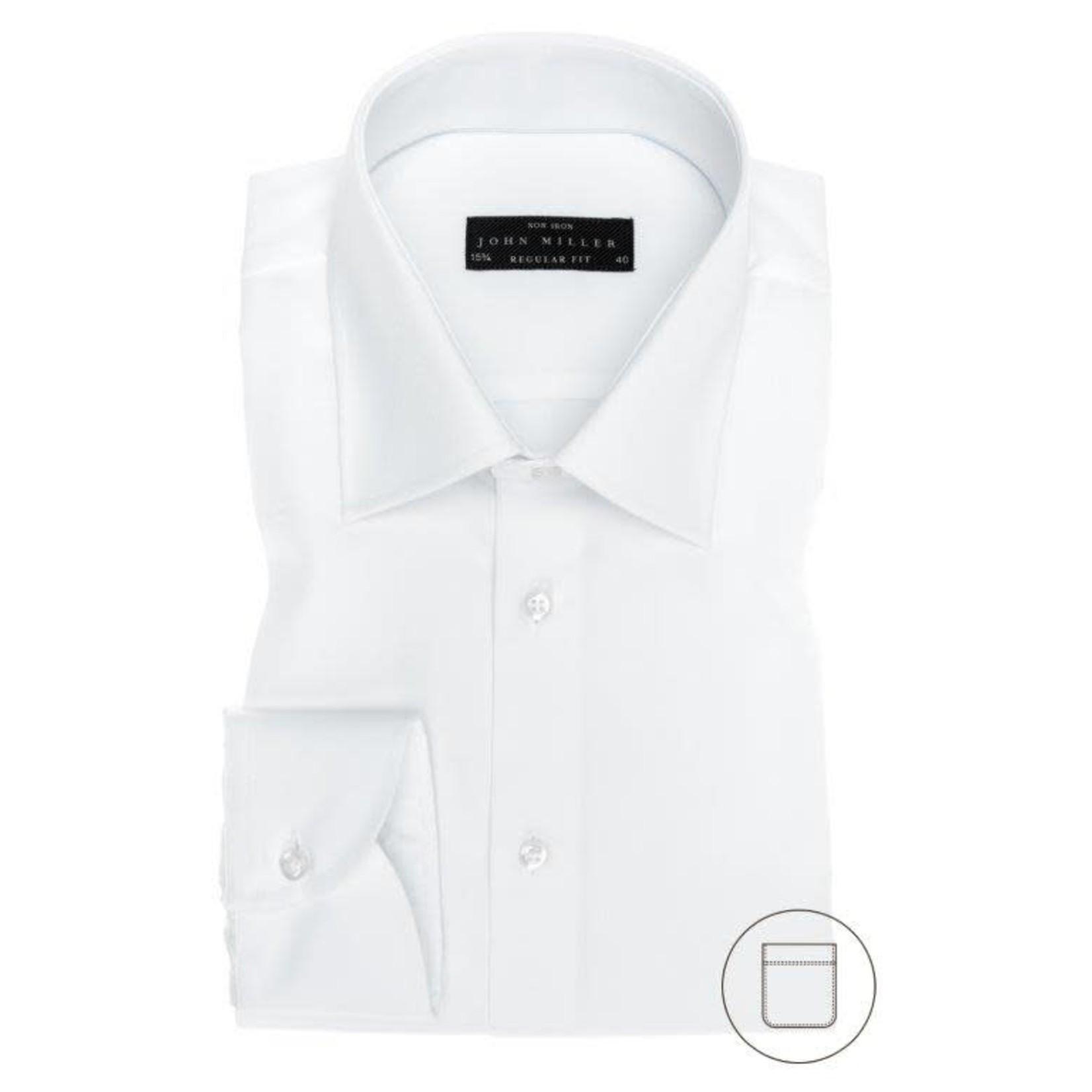 John Miller regular fit overhemd wit met semi spread boord