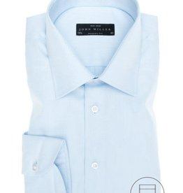 John Miller modern fit overhemd lichtblauw