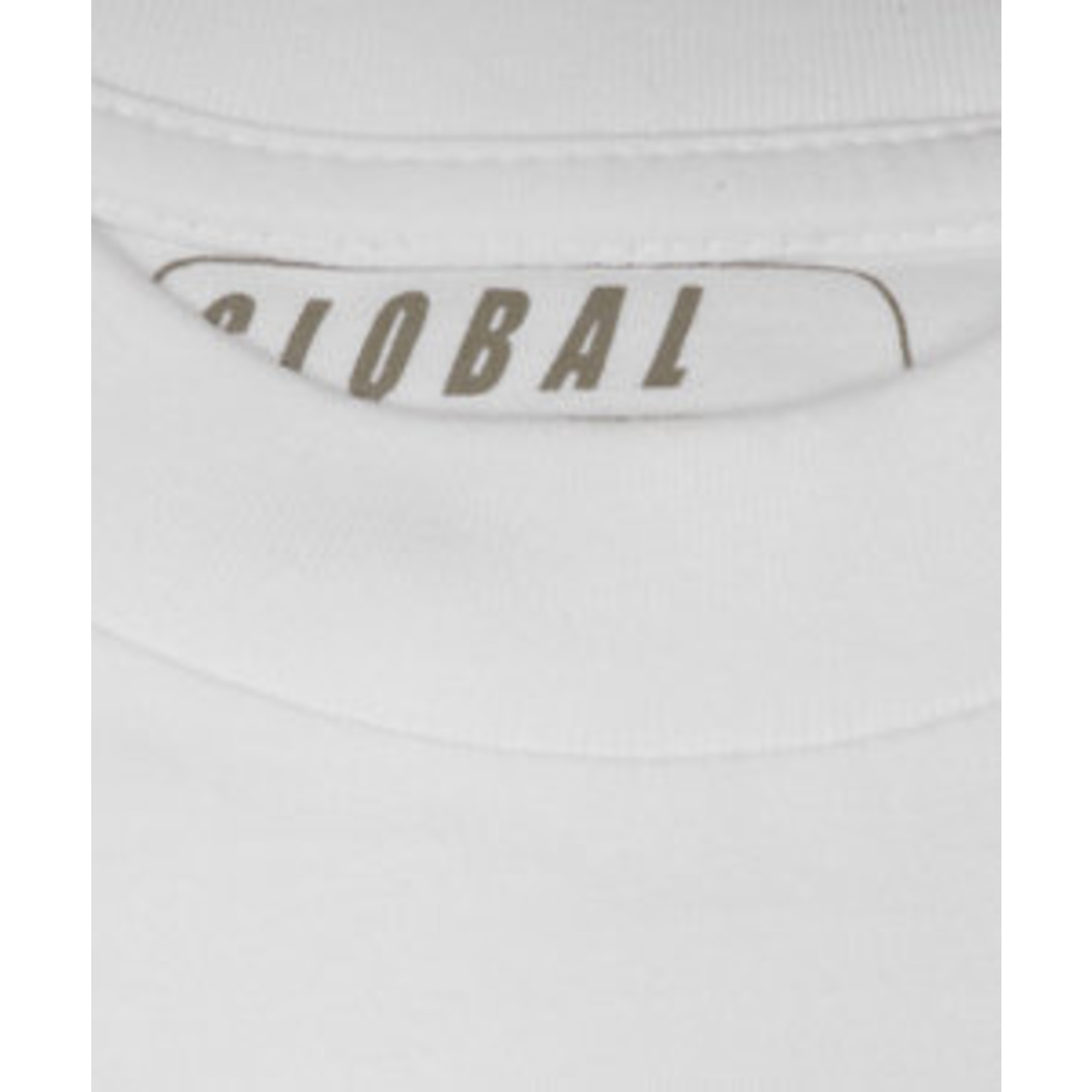 Global5 model Max 2-pack ronde hals t-shirt wit