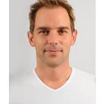 Global5 model Raf 2-pack v-hals t-shirt wit