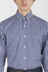 Paul & Shark overhemd marine en blauwe streep